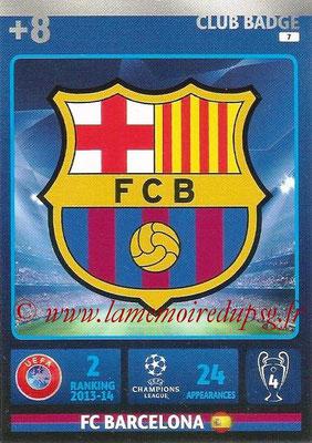 2014-15 - Adrenalyn XL champions League N° 007 - Logo FC Barcelone (Club Badge)
