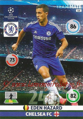 2014-15 - Adrenalyn XL champions League N° 121 - Eden HAZARD (Chelsea FC)