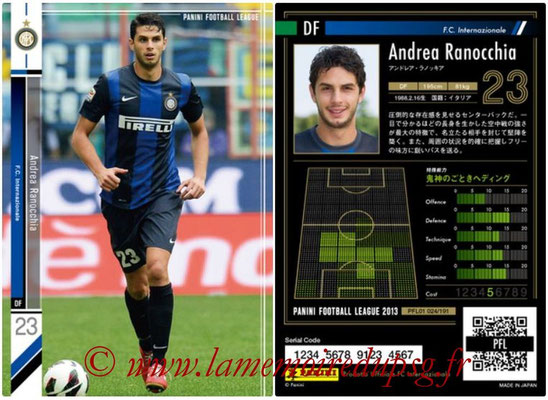 Panini Football League 2013 - PFL01 - N° 024 - Andrea Ranocchia ( F.C. Internazionale )
