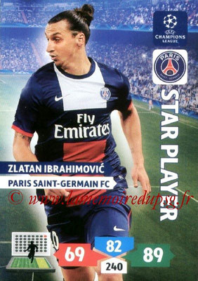 2013-14 - Adrenalyn XL champions League N° 234 - Zlatan IBRAHIMOVIC (Paris Saint-Germain) (Star Player)