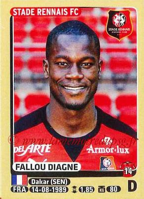 2015-16 - Panini Ligue 1 Stickers - N° 394 - Fallou DIAGNE (Stade Rennais FC)