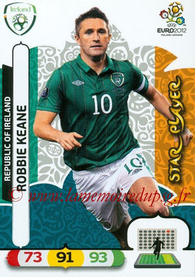 Panini Euro 2012 Cards Adrenalyn XL - N° 189 - Robbie KEANE (Eire) (Star Player)