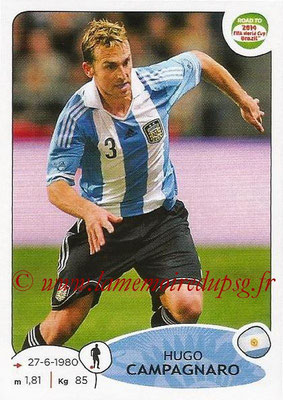 2014 - Panini Road to FIFA World Cup Brazil Stickers - N° 056 - Hugo CAMPAGNARO (Argentine)
