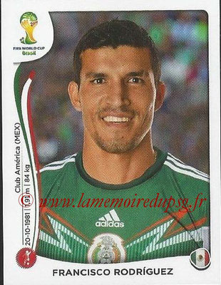 2014 - Panini FIFA World Cup Brazil Stickers - N° 074 - Fransisco RODRIGUEZ (Mexique)
