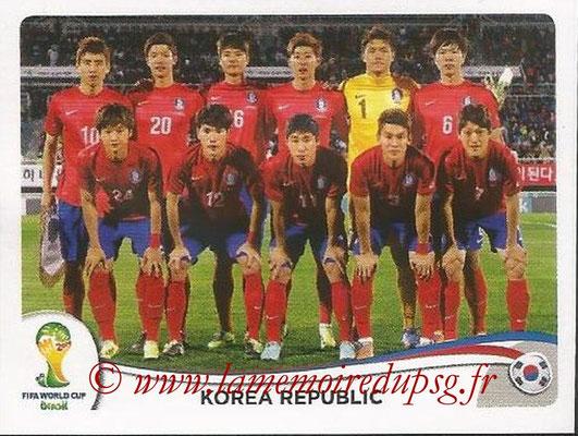 2014 - Panini FIFA World Cup Brazil Stickers - N° 622 - Equipe Corée du Sud