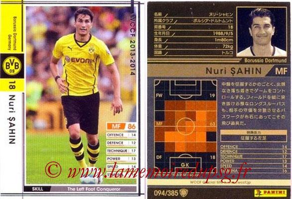 2013-14 - WCCF - N° 094 - Nuri SAHIN (Borussia Dortmund)