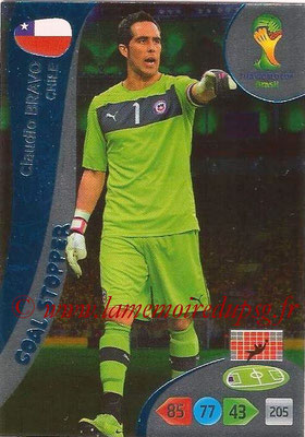 2014 - Panini FIFA World Cup Brazil Adrenalyn XL - N° 354 - Claudio BRAVO (Chili) (Goal Stopper)