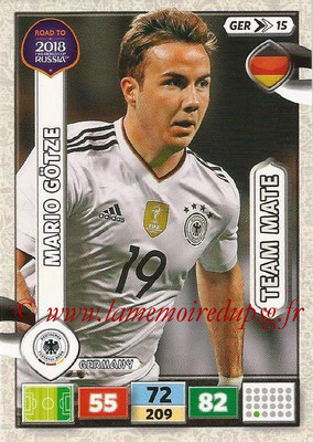 2018 - Panini Road to FIFA World Cup Russia Adrenalyn XL - N° GER15 - Mario GÖTZE (Allemagne)