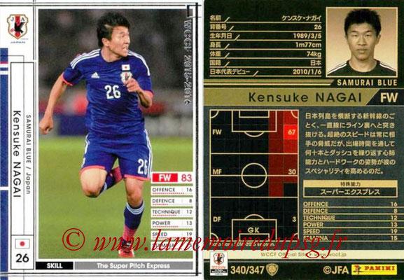 2015-16 - Panini WCCF - N° 340 - Kensuke NAGAI (Japon)