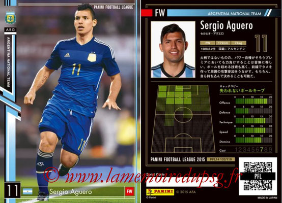 Panini Football League 2015 - PFL14 - N° 102 - Sergio AGUERO (Argentine)