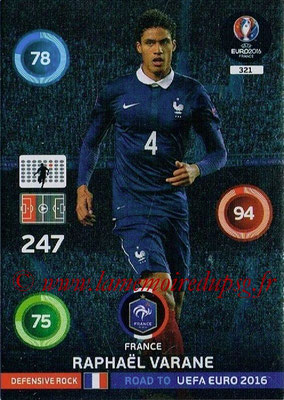Panini Road to Euro 2016 Cards - N° 321 - Raphael VARANE (France) (Defensive Rock)