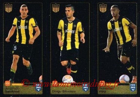 2015-16 - Panini FIFA 365 Stickers - N° 840-841-842 - Jonathan SANDOVAL + Diogo SILVESTRE + Sebastián PIRIZ (Penarol)