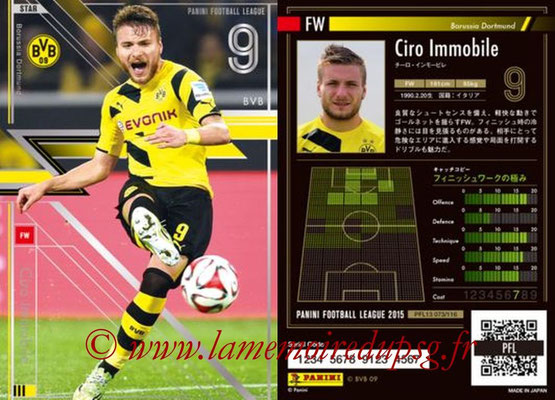 Panini Football League 2015 - PFL13 - N° 073 - Ciro IMMOBILE (Borussia Dortmund) (Star)