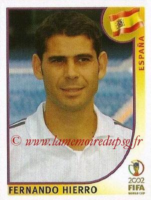 2002 - Panini FIFA World Cup Stickers - N° 101 - Fernando HIERRO (Espagne)