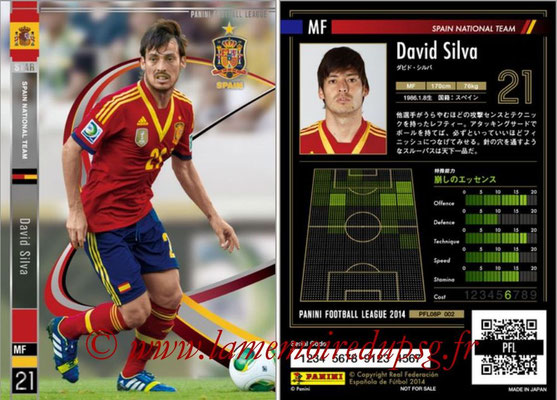 Panini Football League 2014 - PFL08P - N° 002 - David SILVA (Espagne) (Star)