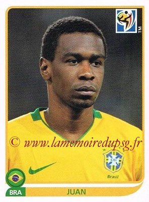 2010 - Panini FIFA World Cup South Africa Stickers - N° 490 - JUAN (Brésil)