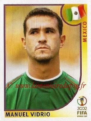 2002 - Panini FIFA World Cup Stickers - N° 496 - Manuel VIDRIO (Mexique)