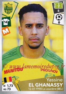 2017-18 - Panini Ligue 1 Stickers - N° 320 - Yassine EL GHANASSY (Nantes)