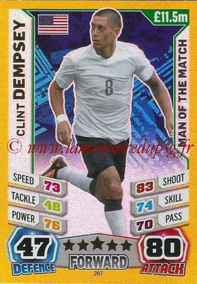 Topps Match Attax England 2014 - N° 267 - Clint DEMPSEY (Etats-Unis) (Man Of The Match)