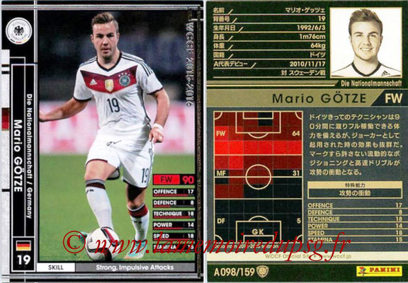2015-16 - Panini WCCF - N° A098 - Mario GÖTZE (Allemagne)