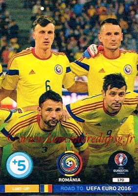 Panini Road to Euro 2016 Cards - N° 170 - Equipe Roumanie 2