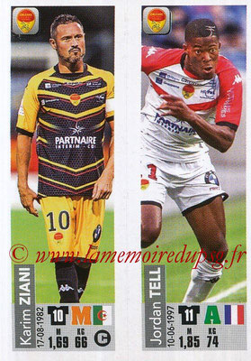 2018-19 - Panini Ligue 1 Stickers - N° 549 - Karim ZIANI + Jordan TELL (US Orleans)