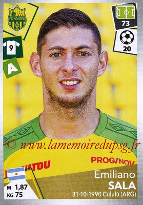 2017-18 - Panini Ligue 1 Stickers - N° 332 - Emiliano SALA (Nantes)