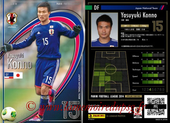Panini Football League 2014 - PFL06 - N° 130 - Yasuyuki KONNO (Japon) (Star +)