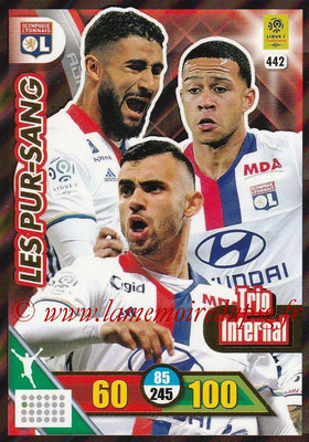2017-18 - Panini Adrenalyn XL Ligue 1 - N° 442 - Les Pur-Sang (Lyon) (Trio Infernal)