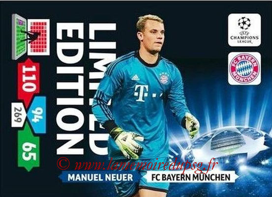2013-14 - Adrenalyn XL champions League N° LE19 - Manuel NEUER (FC Bayern Munich) (Limited Edition)