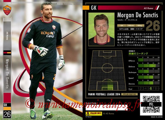 Panini Football League 2014 - PFL06 - N° 022 - Morgan DE SANCTIS (AS Roma) (Star)