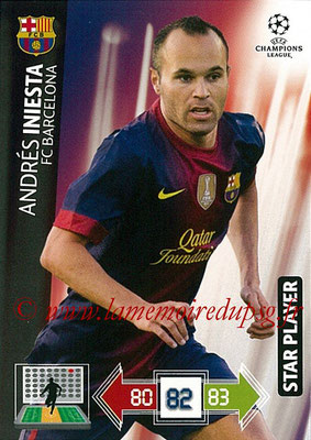 2012-13 - Adrenalyn XL champions League N° 034 - Andres INIESTA (FC Barcelone) (Star Player)