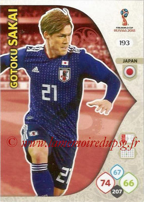 2018 - Panini FIFA World Cup Russia Adrenalyn XL - N° 193 - Gotoku SAKAI (Japon)