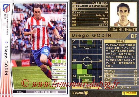 2012-13 - WCCF - N° 308 - Diego GODIN (Atletico  Madrid)