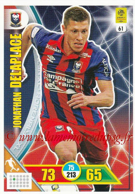 2017-18 - Panini Adrenalyn XL Ligue 1 - N° 061 - Jonathan DELAPLACE (Caen)