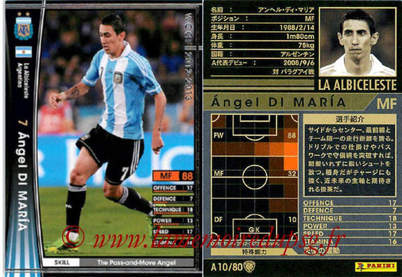 2012-13 - WCCF - N° A10 - Angel DI MARIA (Argentine)