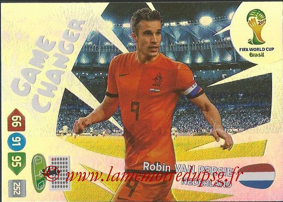 2014 - Panini FIFA World Cup Brazil Adrenalyn XL - N° 402 - Robin VAN PERSIE (Pays-Bas) (Game Changer)
