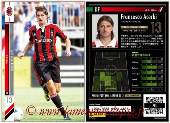 Panini Football League 2013 - PFL02 - N° 002 - Francesco Acerbi ( A.C. Milan )