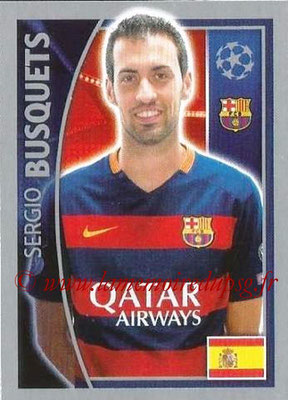 2015-16 - Topps UEFA Champions League Stickers - N° 313 - Sergio BUSQUETS (FC Barcelone)