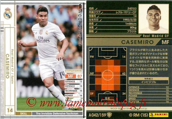 2015-16 - Panini WCCF - N° A042 - CASEMIRO (Real Madrid CF)