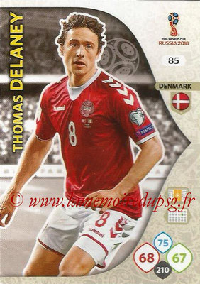2018 - Panini FIFA World Cup Russia Adrenalyn XL - N° 085 - Thomas DELANEY (Danemark)