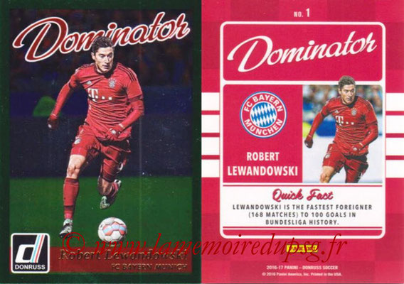2016 - Panini Donruss Cards - N° D01 - Robert LEWANDOSWKI (FC Bayern Munich) (Dominator)