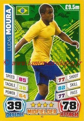 Topps Match Attax England 2014 - N° 041 - LUCAS (Bresil)