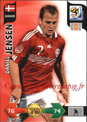 2010 - Panini FIFA World Cup South Africa Adrenalyn XL - N° 079 - Daniel JENSEN (Danemark)