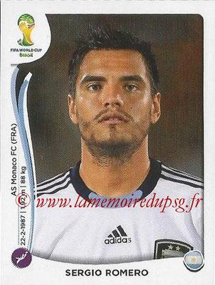 2014 - Panini FIFA World Cup Brazil Stickers - N° 414 - Sergio ROMERO (Argentine)