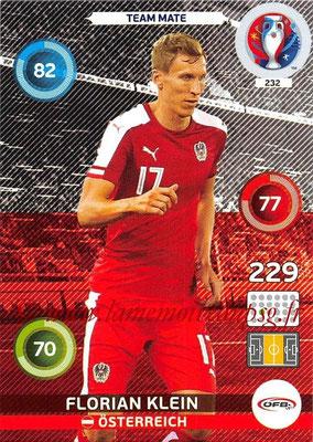 Panini Euro 2016 Cards - N° 232 - Florian KLEIN (Autriche)