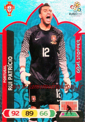 Panini Euro 2012 Cards Adrenalyn XL - N° 236 - Rui PATRICIO (Portugal) (Goal Stopper)