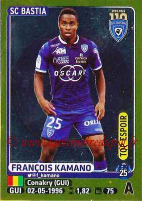 2015-16 - Panini Ligue 1 Stickers - N° 067 - François KAMANO (SC Bastia) (Top espoir)