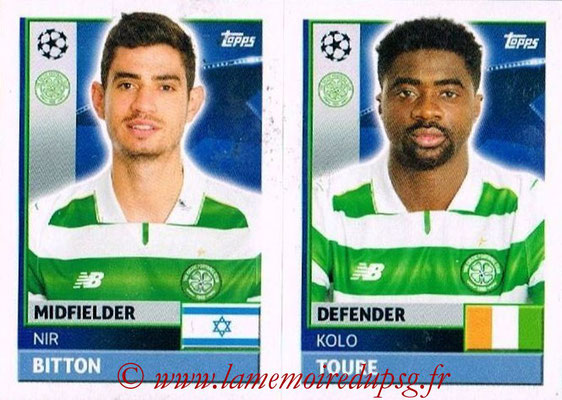 2016-17 - Topps UEFA Champions League Stickers - N° QFB 7-8 - Kolo TOURE + Nir BITON (Celtic FC)
