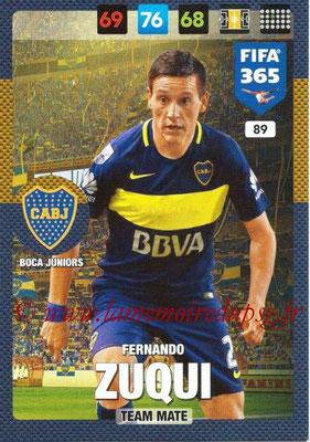 2016-17 - Panini Adrenalyn XL FIFA 365 - N° 089 - Fernando ZUQUI (CA Boca Junior)
